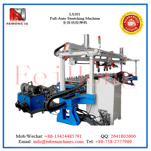 stretching machine for heater tubular