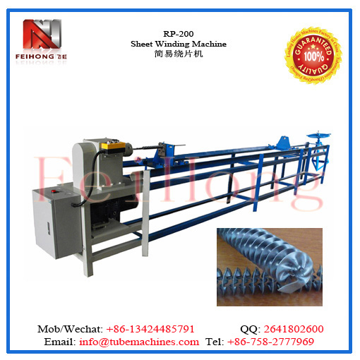 colling fin winding machine for heating elements