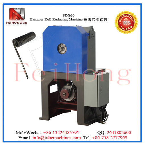 SDG30 pipe reducing machine for heater elements