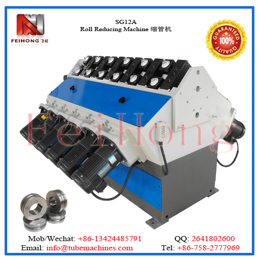 pipe reducing machine for heating rolls