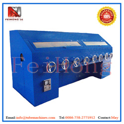buffing machine for heater pipes