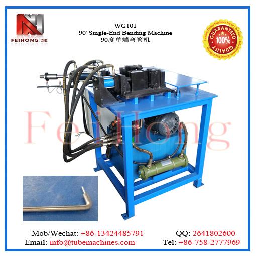 90 degree single end bending machine for heating elements